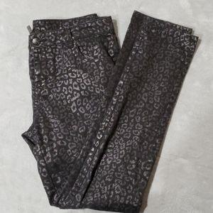 nicole Black Leopard print Jeans - Size 8